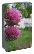 Two Pink Chives Portable Battery Charger