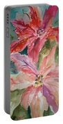 Two Poinsettias Portable Battery Charger