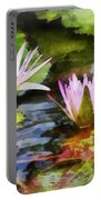 Two Purple Water Lotus Portable Battery Charger