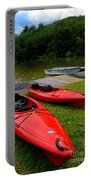 Two Red Kayaks Portable Battery Charger