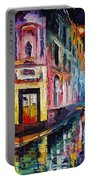 Two Streets - Palette Knife Oil Painting On Canvas By Leonid Afremov Portable Battery Charger