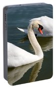 Two Swimming Swans Portable Battery Charger