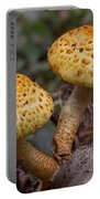 Two Toadstool Chums On A Log Portable Battery Charger