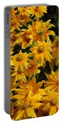 Two Toned Yellow Blooms Portable Battery Charger