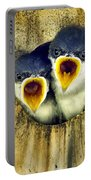 Two Tree Swallow Chicks Portable Battery Charger