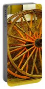 Two Wagon Wheels Portable Battery Charger by Jeff Swan