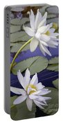 Two White Lilies Portable Battery Charger