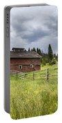 Two Window Barn Portable Battery Charger
