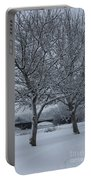 Two Winter Trees Portable Battery Charger