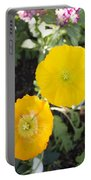 Two Yellow Flowers Portable Battery Charger