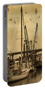Tybee Island Shrimp Boats Portable Battery Charger