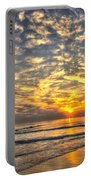 Calm Seas And A Tybee Island Sunrise Portable Battery Charger