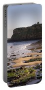 Tynemouth Priory And Castle Across King Edwards Bay Portable Battery Charger