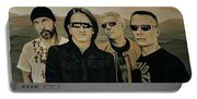 U2 Silver And Gold Portable Battery Charger