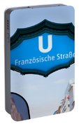 Ubahn Franzosische Strasse Berlin Germany Portable Battery Charger
