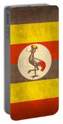 Uganda Flag Vintage Distressed Finish Portable Battery Charger