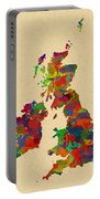 Uk Watercolor Map Portable Battery Charger