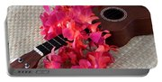 Ukulele And Red Lei Portable Battery Charger