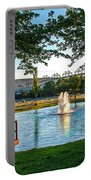 Umatilla Fountain Pond Portable Battery Charger by Robert Bales