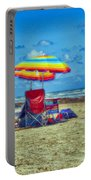 Umbrellas At The Beach Portable Battery Charger