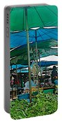 Umbrellas In The Marketplace In Tachilek-burma Portable Battery Charger