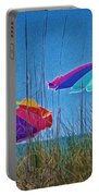 Umbrellas On Sanibel Island Beach Portable Battery Charger