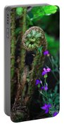 Uncurling Fern And Flower Portable Battery Charger