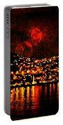 Corinth Under A Milti Moon Sky Portable Battery Charger