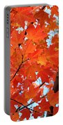 Under The Orange Maple Tree Portable Battery Charger by Rona Black