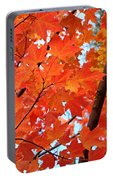 Under The Orange Maple Tree Portable Battery Charger