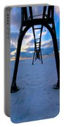 Under The Pier In St. Joseph At Sunset Portable Battery Charger