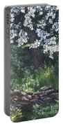 Under The Shade Of The Almond Blossom Portable Battery Charger
