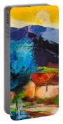 Under The Tuscan Sky Portable Battery Charger by Elise Palmigiani