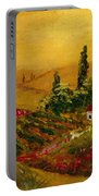 Under The Tuscan Sun Portable Battery Charger by Darice Machel McGuire