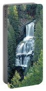 109008-undine Falls In Yellowstone Portable Battery Charger