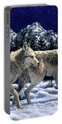 Wolves - Unfamiliar Territory Portable Battery Charger by Crista Forest