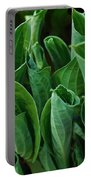 Unfurling Of The Hosta Portable Battery Charger