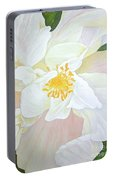 Unfurling White Hibiscus Portable Battery Charger