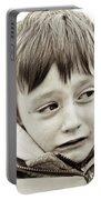 Unhappy Boy Portable Battery Charger