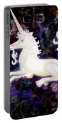 Unicorn Floral Portable Battery Charger by Genevieve Esson