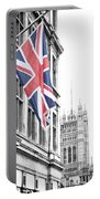 Union Jack Portable Battery Charger by Nancy Ingersoll