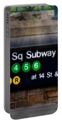 Union Square Subway Station Portable Battery Charger by Susan Candelario