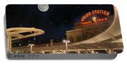 Union Station Denver Under A Full Moon Portable Battery Charger