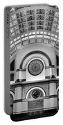 Union Station Lobby Black And White Portable Battery Charger