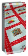Unique Quilt With Christmas Season Images Portable Battery Charger