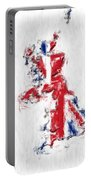 United Kingdom Painted Flag Map Portable Battery Charger