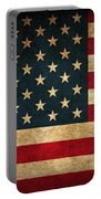United States American Usa Flag Vintage Distressed Finish On Worn Canvas Portable Battery Charger by Design Turnpike