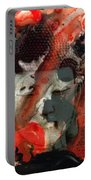 Universal Qi - Zen Black And Red Art Portable Battery Charger by Sharon Cummings