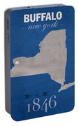 University At Buffalo New York Bulls College Town State Map Poster Series No 022 Portable Battery Charger