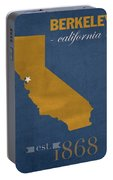University Of California At Berkeley Golden Bears College Town State Map Poster Series No 024 Portable Battery Charger